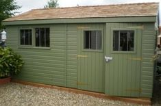 3.0 x 4.8m Superior Shed 2.0m eaves