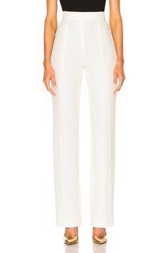 Cushnie et Ochs Stretch Twill High-Waisted Pants in Soft White   FWRD