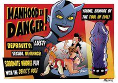 CAIDO DE UN PERAL - Cómic e Ilustración: Manhood in Danger!