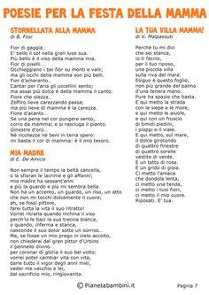 Poesie per la Festa della Mamma per Bambini   PianetaBambini.it Poetry, Words, Vacation, Vacations, Holidays Music, Poems, Holiday