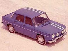 Mythique Renault Gordini... I had a Renault at one time. It was blue (no stripes & only a 2 door) but no one knew if I was coming or going cause it looked the same from the front and back. Good memories :)