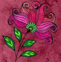 Adult coloring book _WaterColor