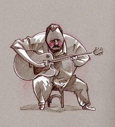 Sketchbook by Fabio P. Corazza, via Behance