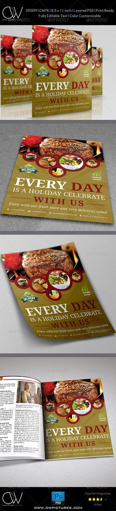 Italian Restaurant Flyer Restaurants, Brochures and Layout design - restaurant flyer