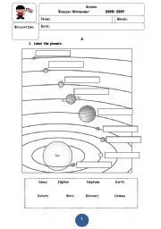 Printables Solar System Worksheets solar system worksheets and on pinterest google search