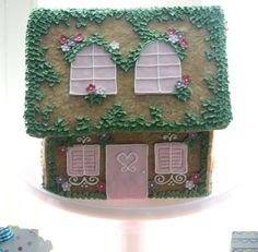 spring gingerbread house - Cake by Francisca Neves