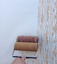 Patterned Paint Roller in Woodgrain with van NotWallpaper op Etsy, $37.00