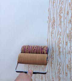 Patterned Paint Roller in Woodgrain with van NotWallpaper op Etsy, $37.00