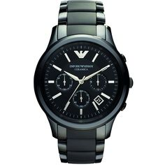 Men S Black Emporio Armani Ceramica - Maman Jurho Vintage Watches For Men, Best Watches For Men, Luxury Watches For Men, Watches For Men Affordable, Stylish Watches, Cool Watches, Emporio Armani Mens Watches, Armani Black, Seiko Watches