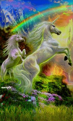Free animated unicorns mobile wallpaper by maryla75 on Tehkseven