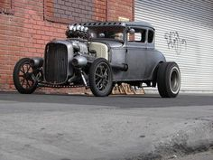 Afternoon Drive: Hots Rods & Rat Rods Photos) A hot rod is a specific type of automobile that has been modified to produce more power for racing straight ahead. The hot rod originated in the early. 1968 Mustang, Mustang Fastback, Classic Trucks, Classic Cars, Vintage Cars, Antique Cars, Traditional Hot Rod, Street Rods, Hot Cars