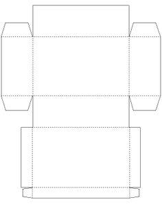 1000 images about 30 papier et carton on pinterest forts bricolage and livres - Gabarit boite en papier ...