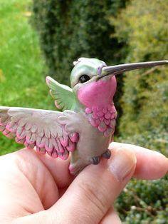 Step by step making a Hummingbird piece. http://mysticreflections.blogspot.com/2016/04/whisper-to-hummingbird.html