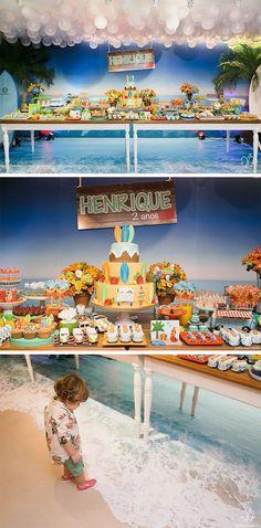 Festa infantil tema criativo Surf trip praia Luli Ateliê de Festas Blog Festa de menino Hawai Party, Beach Party, Luau Birthday, Boy Birthday Parties, Birthday Ideas, Atelier Theme, Party Themes For Boys, Camping Parties, Moana Party