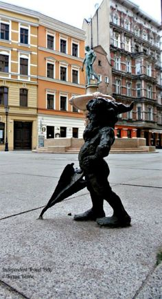 The Fencer Fountain & Gnomes of Wroclaw.