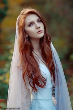 Nastya by Evgenia Galan Beautiful Redhead, Beautiful People, Long White Hair, Elf Cosplay, Magical Pictures, Pose, Female Character Inspiration, Redhead Girl, Dream Hair