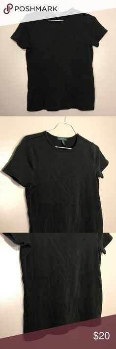 """[Lauren Ralph Lauren] Black Short Sleeve Shirt Lauren Ralph Lauren Short Sleeve Black T Shirt. Excellent Condition! No Flaws. Size Medium. Bust-17"""" Length-23"""" Lauren Ralph Lauren Tops Tees - Short Sleeve"""