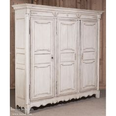 Antiques   Antique Armoires   Antique Neoclassical Country French Painted Armoire   www.inessa.com