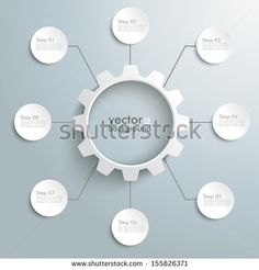 Stock Images similar to ID 200501411 - 8 white arrows on the grey...