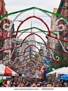 Little Italy, Mulberry Street, NYC  - Great fun to go to the festivals (San Genero Festival in the fall)