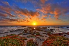 Pacific Grove Sunset by Dave Toussaint (www.photographersnature.com), via Flickr....near Monterey, CA....so dreamy.