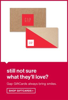 gift card to GAP. I would like a few more wintery items