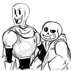 Papyrus and Sans by batata-doce on DeviantArt