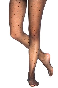 Sheer patterned polk-dot tights! So cute! I want these :-)