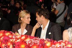 Diane Kruger and Joshua Jackson in Louis Vuitton.
