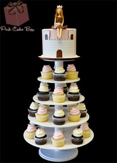 Princess Cupcake Tower for a baby shower this past weekend!