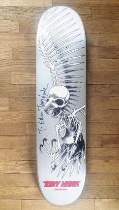 dd6e5bc114 Vintage Rare Autographed Tony Hawk Birdhouse Skateboard 31