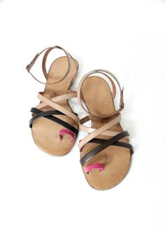 hand-made leather sandals  model 12-1
