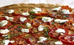 Pizza integrale ai pomodori