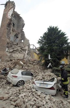 tremors.   The tremors that come after a strong earthquake can cause additional damage.