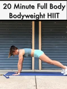 FULL BODY BODYWEIGHT HIIT🔥//For Busy Women Perfect for busy women who want to lose body fat. All you need for this body weighted shred workout is 20 minutes and your exercise mat. Shred Workout, Hitt Workout, Dumbbell Workout, Gluteus Workout, Lose Body Fat, Body Weight, Video Sport, What Is Hiit, 20 Minute Workout