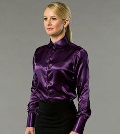 #satin Bow Blouse, Blouse And Skirt, Dress Skirt, Satin Top, Silk Satin, Trendy Fashion, Trendy Style, Steampunk Fashion, Gothic Fashion