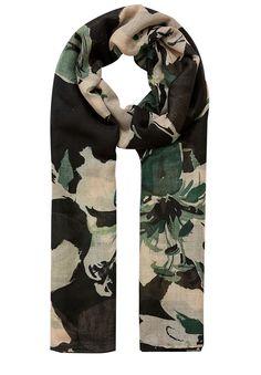 Schal mit Flower-Print    Das i-Tüpfelchen für elegante Stylings: Der Hallhuber Schal sorgt für Charme in Daily-Looks! Gefertigt aus leicht transparentem Material und ausgestattet mit rundherum abgesteppten Kanten wird der Schal schnell zum Darling unter den Accessoires. Das zarte, botanische Muster aus stilisierten Blüten und Blättern zaubert feminine Akzente ins Outfit und macht den Hallhuber...