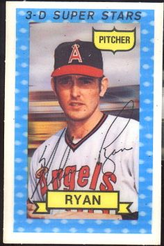 Nolan Ryan, P, Angels 1974 kelloggs cereal baseball cards 3D