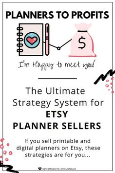 If you sell printable or digital planners on Etsy, you won't want to miss this. Click to take your Etsy shop to the next level! Daily Planner Printable, Planner Pages, Life Planner, Weekly Planner, Day Planners, Personal Planners, Planner Organization, Organizing Life, Health Planner
