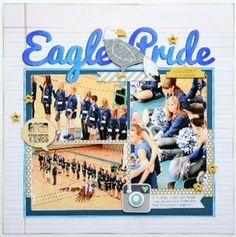 Eagle Pride Scrapbook Page