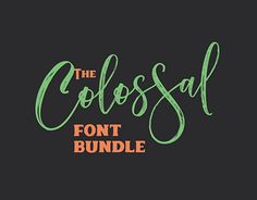 """Check out new work on my @Behance portfolio: """"The Colossal Font Bundle: 27 High-Quality Fonts – 99% O"""" http://be.net/gallery/52062015/The-Colossal-Font-Bundle-27-High-Quality-Fonts-99-O"""