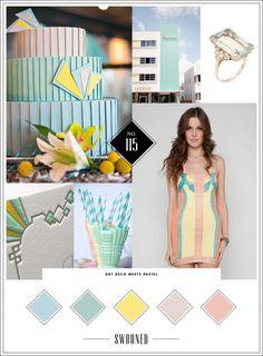 Mood Board #115: Art Deco Meets Pastel