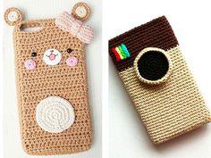 4 Kawaii Crochet, Crochet Bear, Crochet Home, Crochet Gifts, Crochet Camera, Crochet Wallet, Crochet Handbags, Crochet Purses, Yarn Projects