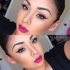 Makeup of the Day: winged liner & bold lip. Browse our real-girl gallery #TheBeautyBoard on Sephora.com & upload your own look for the chance to be featured here! #Sephora #MOTD