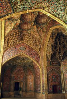 North Iwan of the Nasir al-Molk Mosque  Shiraz, Iran