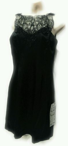 Vintage 1980's Silky Little Black Dress Gunne Sax Jessica McClintock Size 9/10   Clothing, Shoes & Accessories, Women's Clothing, Dresses   eBay!