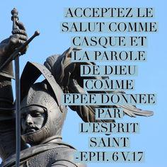 #salut #casque #épée #laBible #versetdujour