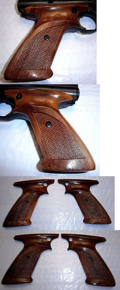 Other Air Guns and Slingshots 178891: Checkered Walnut Wood Grips Lacquered Ambi Covers Safety Crosman 2240 1377 Etc. BUY IT NOW ONLY: $46.8