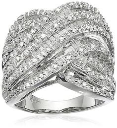 Sterling Silver Diamond Ring (1 cttw,…
