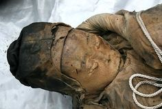Whatever she was preserved in was remarkable. She even had her eyebrows still attached.   Ancient Mummy Found While Doing Construction